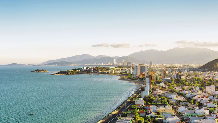 The coastal city of Nha Trang