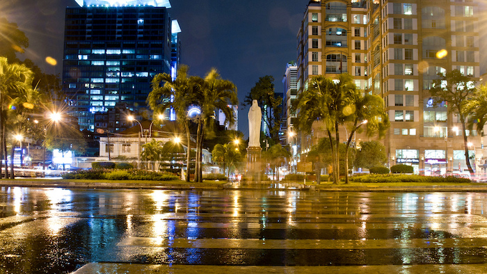 Saigon in rainy season