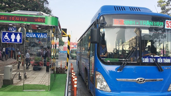 Explore Saigon by bus