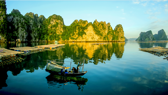 The elegant beauty of Halong in autumn and winter