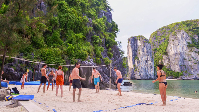 Halong Bay also offers travelers with various water sports