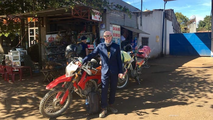 Traveling to the Mekong River by motorbike