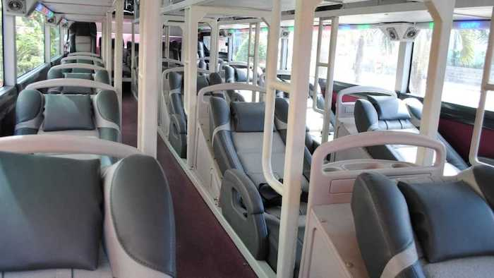 The facilities on the bus