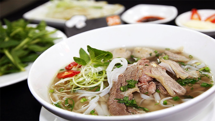 Beef noodle soup in Hanoi