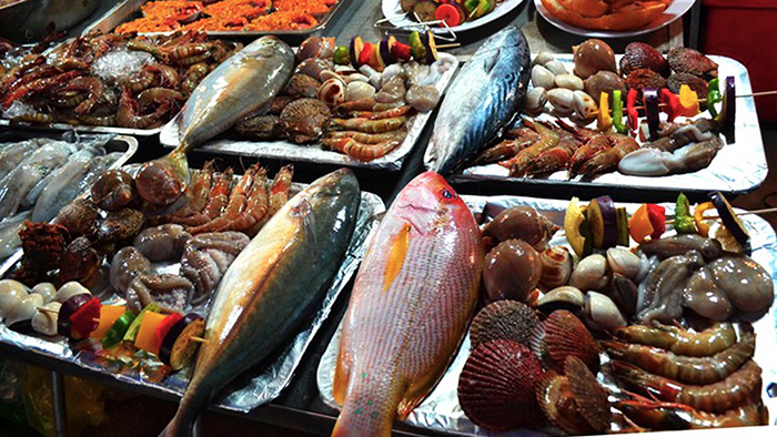 The fresh seafood at Phu Quoc night market