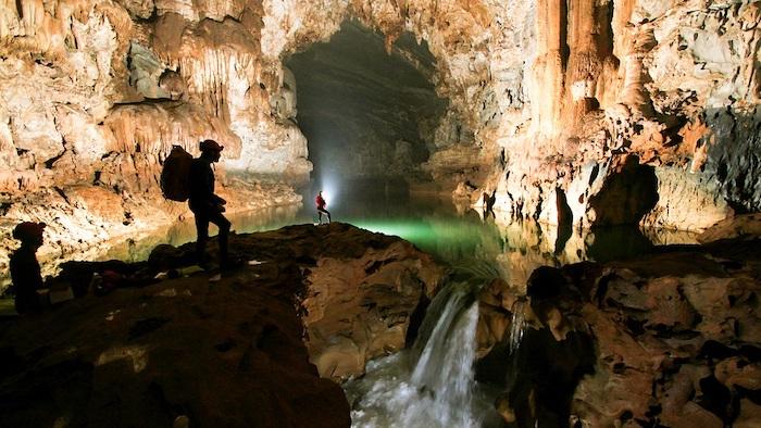 Inside Tu Lan cave