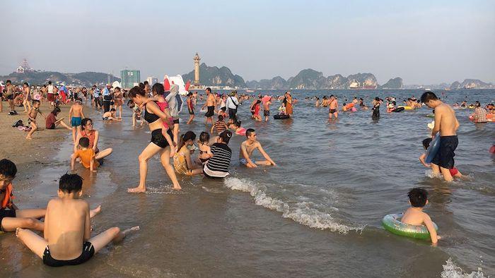 Bai Chay beach in summer