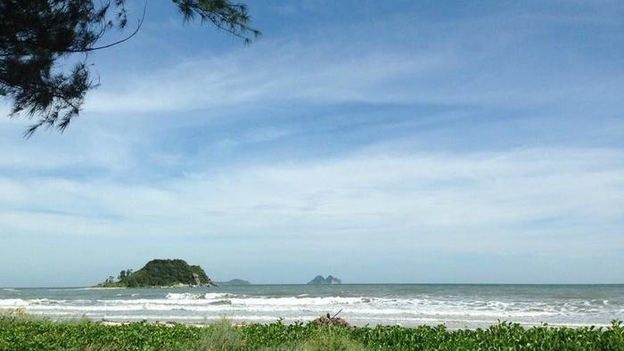 The scenery on Ngoc Vung island