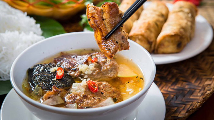 Bun cha is a popular dish of Hanoi capital