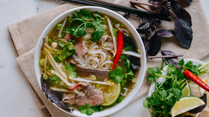 Beef noodle soup of Hanoi
