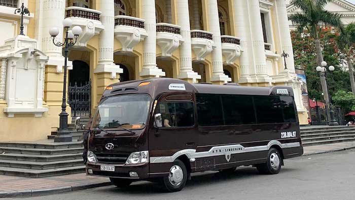 Most luxury buses will pick you up from Hanoi Old Quarter