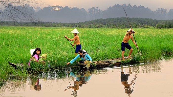 People in Mekong Delta are living with the water