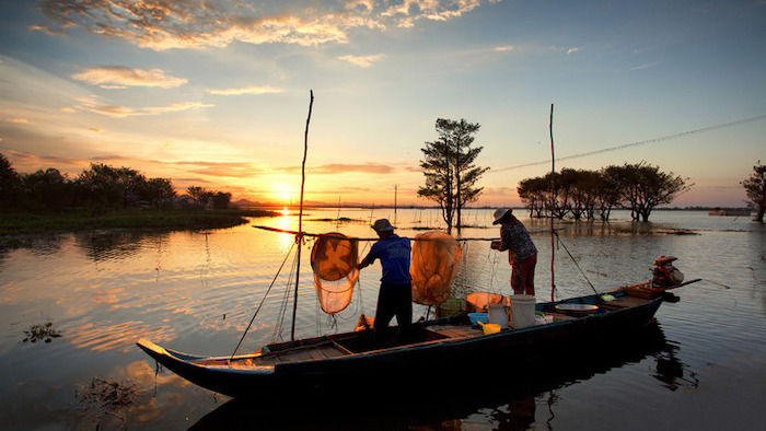 The rustic life on Mekong Delta river