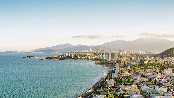 The coastal city of Nha Trang