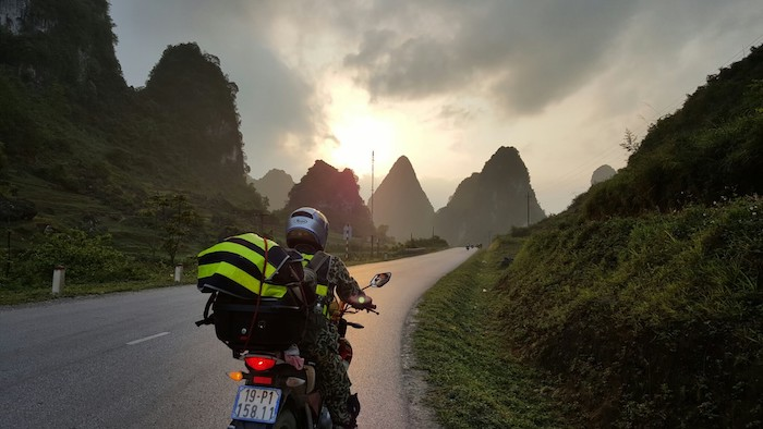 Going by motorbike will give tourists an adventurous feeling