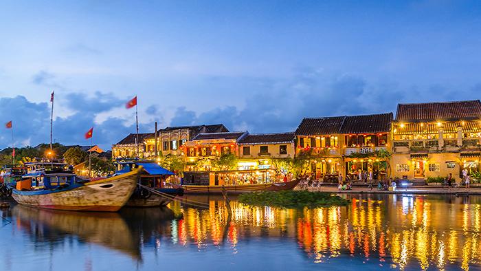 The peaceful Hoi An ancient town near Da Nang city