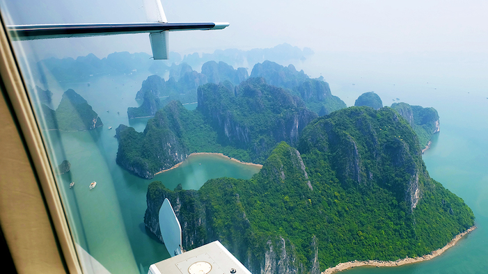 Experiencing Halong Bay from the seaplane