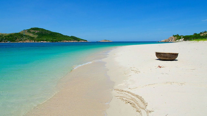 The pristine of Ninh Chu Beach in January