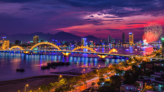 Danang city by night