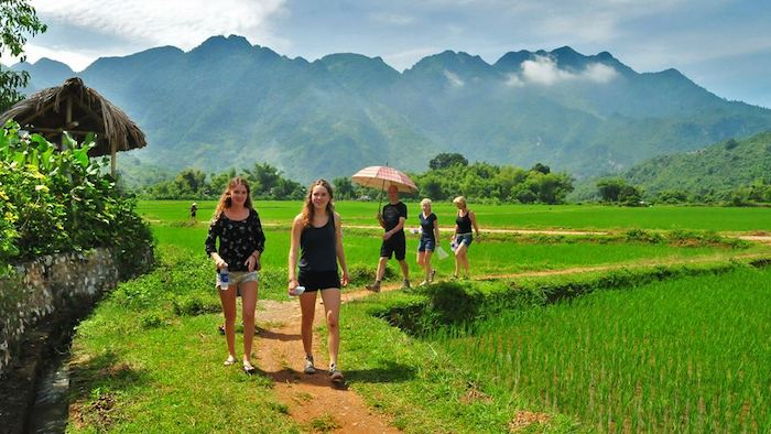 The scenery in Mai Chau