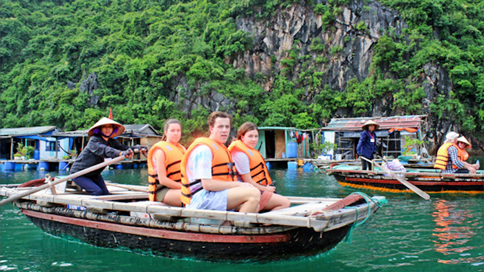 Visit the fishing villages by boat