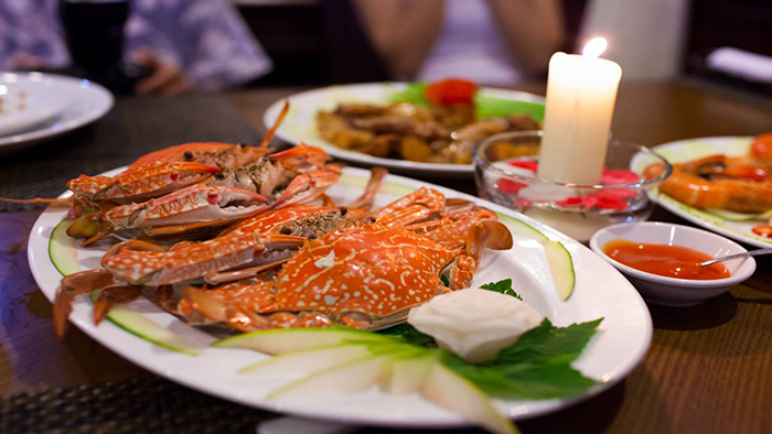Seafood at Vietnam restaurant