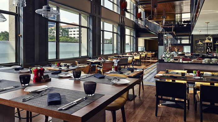 The restaurant in Sofitel Saigon Plaza