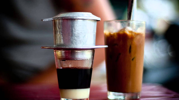Filter coffee in Ho Chi Minh