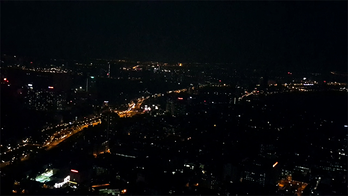 Hanoi is cover by the dark and silent at night