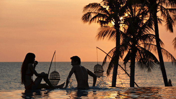 The swimming pool for couples in Phu Quoc homestay