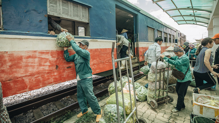 Traveling by train, you can experience the life of the locals