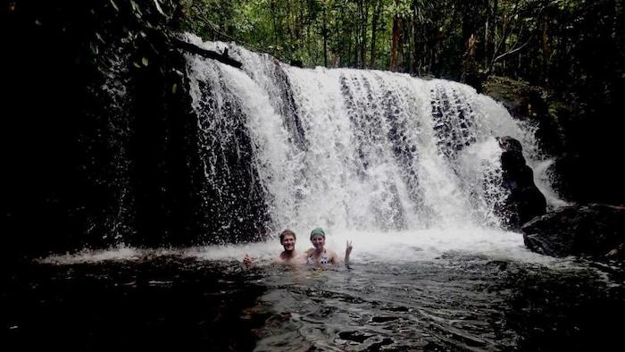 Enjoying the fresh water in Phu Quoc streams