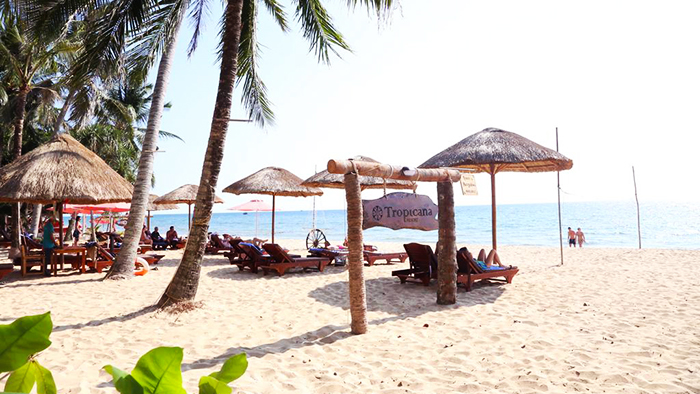 Enjoy the beach at Tropicana Phu Quoc