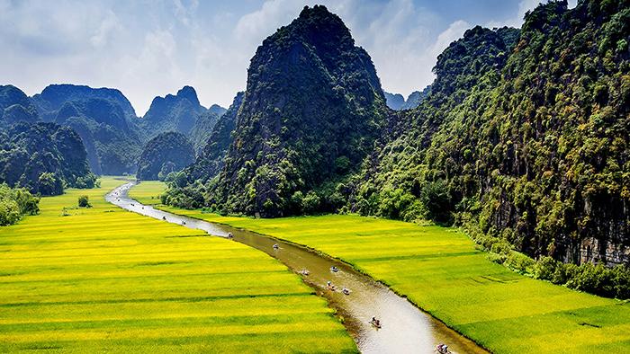 Tam Coc - Bich Dong (via vietfuntravel.com.vn)