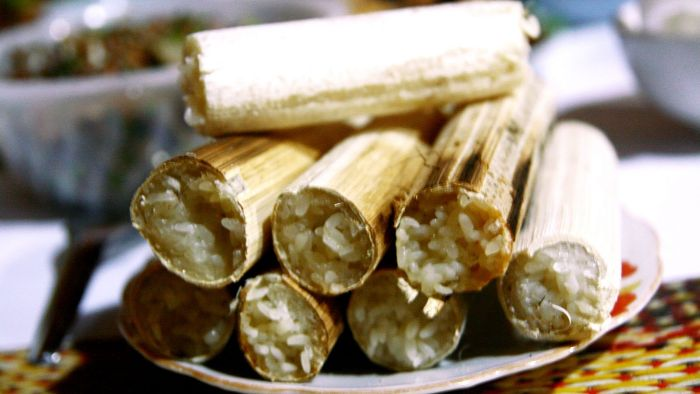 Bamboo-tube rice