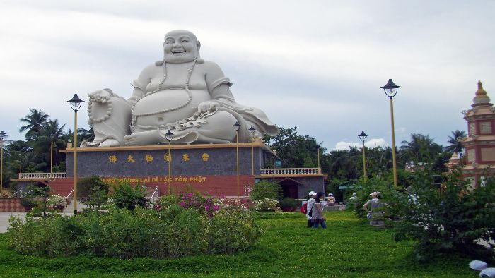 Budda statue at Vinh Trang pagoda, Mekong Delta