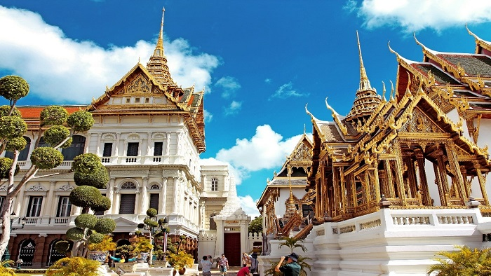 Explore the famous Grand Palace in Bangkok