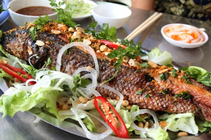 Grilled snakehead fish