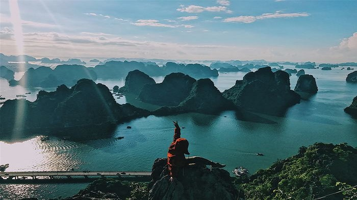 Admire Halong Bay from Bai Tho Mountain
