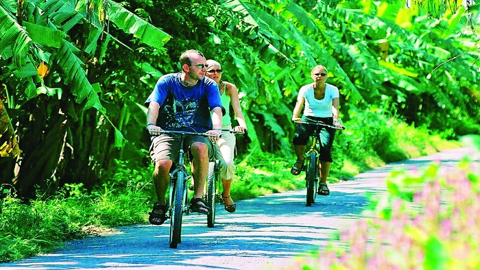 Enjoying Bicycle Tour In Mekong Islands