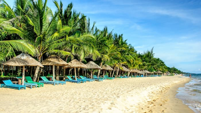 Pristine beach on Phu Quoc island
