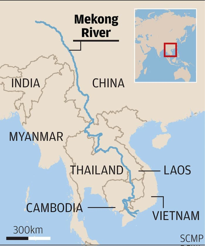 Where is the Mekong River location on the world map? (Dec, 2019)