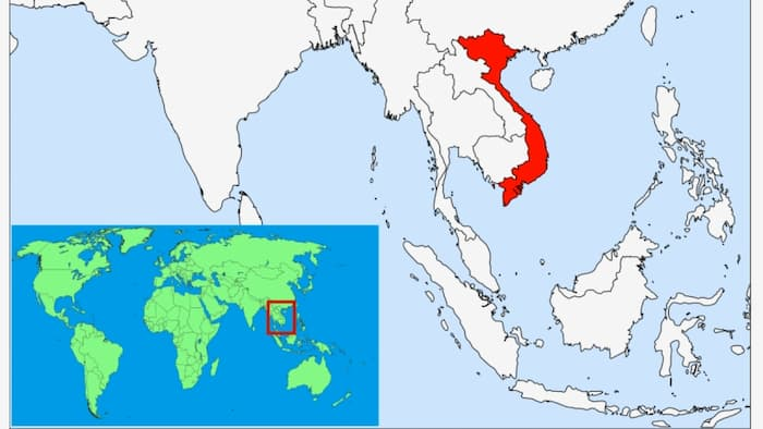 Where is Vietnam located on the world map(Jul, 2019)